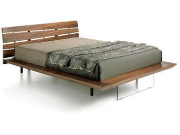 """Lit Design en Bois """"Vacas"""" 150x200cm Naturel - Paris Prix"""