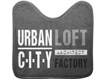 """Tapis Contour WC """"Urban Loft"""" 45x45cm Gris - Paris Prix"""
