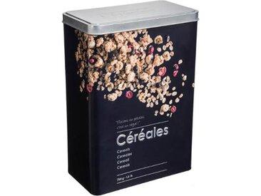 """Boîte à Céréales """"Relief II"""" 24cm Noir - Paris Prix"""