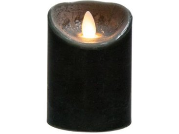 "Bougie Led Flamme Vacillante ""Vela"" 370g Noir - Paris Prix"