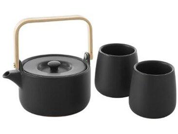 """Théière & 2 Mugs """"Teapot"""" 50cl Noir - Paris Prix"""