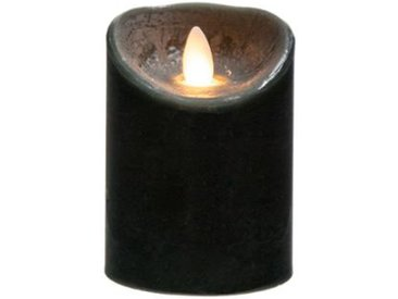 "Bougie Led Flamme Vacillante ""Vela"" 150g Noir - Paris Prix"