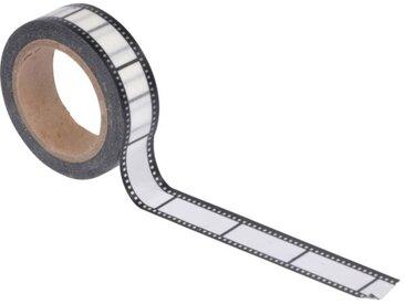 "Ruban Masking Tape ""Film"" 5M Noir & Blanc - Paris Prix"