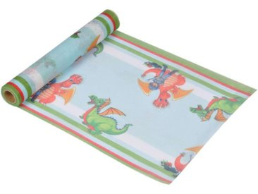 "Chemin de Table Jetable ""Chevalier & Dragon"" 28cmx5m Multicolore"