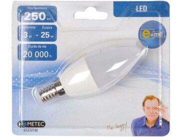 """Ampoule LED """"Flamme 3W"""" 10cm Blanc - Paris Prix"""