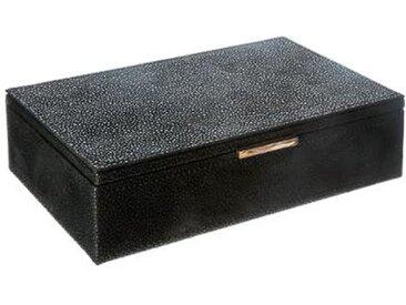 """Boîte à Bijoux """"Grainé"""" 21cm Noir - Paris Prix"""