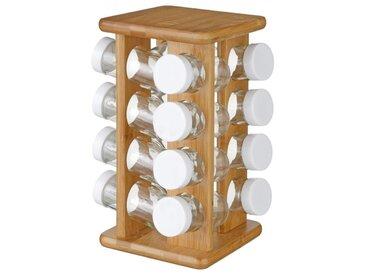 Présentoir à épices Rotatif 16 Pots Bambou - Paris Prix