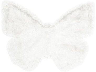 """Tapis Déco Enfant """"Lovely Butterfly"""" 70x90cm Blanc - Paris Prix"""