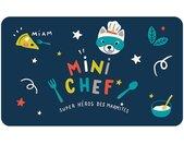 """Set de Table Enfant """"Mini Chef"""" 28x44cm Bleu - Paris Prix"""
