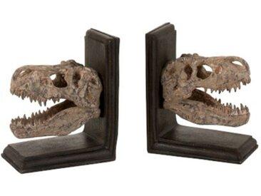 """Lot de 2 Serres-Livres """"Dinosaures"""" 28cm Marron - Paris Prix"""