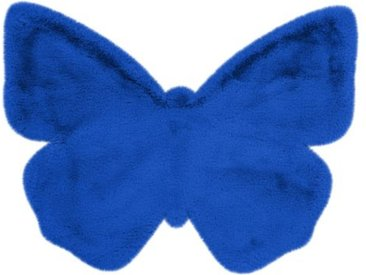 """Tapis Déco Enfant """"Lovely Butterfly"""" 70x90cm Bleu - Paris Prix"""