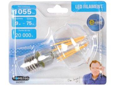 """Ampoule LED Filament E27 """"Standard 9W"""" 11cm Orange - Paris Prix"""