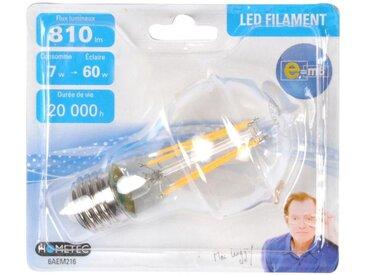 """Ampoule LED Filament E27 """"Standard 7W"""" 11cm Orange - Paris Prix"""