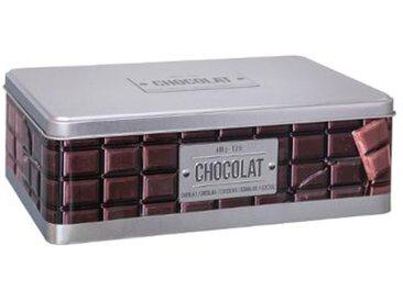 """Boîte À Chocolat """"Relief IV"""" 20cm Argent - Paris Prix"""