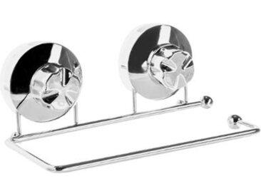 """Dérouleur de Papier Toilette """"Ventouse"""" 18cm Argent - Paris Prix"""