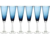 """Lot de 6 Flûtes à Champagne """"Marc"""" 23cl Bleu - Paris Prix"""