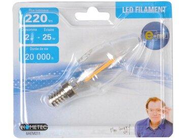 """Ampoule LED Filament """"Flamme 2W"""" 10cm Orange - Paris Prix"""
