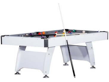 "Table de Billard Américain ""Colorado"" 213cm Blanc & Gris - Paris Prix"