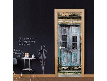 """Papier Peint pour Porte """"Old Door"""" 210x90cm - Paris Prix"""