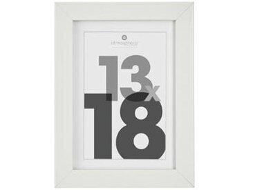 Cadre Photo Bois 13x18cm Blanc - Paris Prix