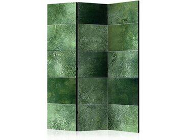 """Paravent 3 Volets """"Green Puzzle"""" 135x172cm - Paris Prix"""