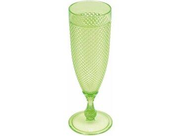 """Flûte à Champagne Déco """"Acrylique"""" 180ml Vert - Paris Prix"""