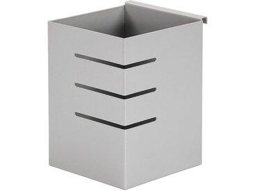 """Pot à Stylos de Bureau en Métal """"Bic"""" 10cm Gris - Paris Prix"""