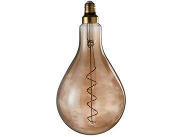 """Ampoule Design Fumée """"Spirale"""" 31cm Marron - Paris Prix"""