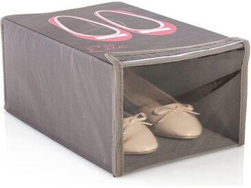 """Boîte de Chaussures Polyester """"Elle"""" Taupe - Paris Prix"""