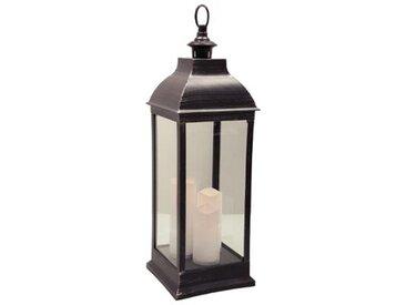 """Lanterne Bougies LED """"Antique"""" 71cm Noir - Paris Prix"""