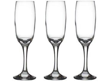 """Lot de 3 Flûtes à Champagne """"Impérial"""" 21cl Transparent"""