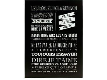 """Toile Imprimée """"Maison"""" 58x78cm Noir - Paris Prix"""