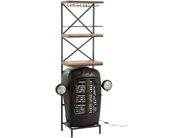 "Comptoir de Bar en Métal ""Tracteur"" 181cm Noir - Paris Prix"