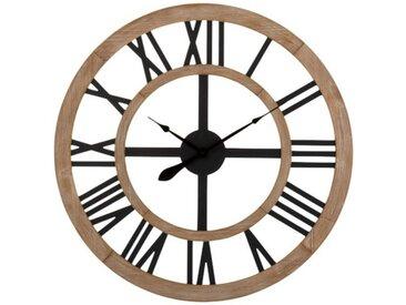 """Horloge Murale Design """"Rustique"""" 90cm Naturel - Paris Prix"""