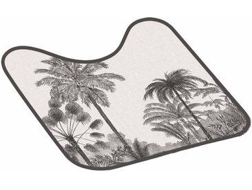 """Tapis Contour WC """"Cocoty"""" 45x45cm Noir & Blanc - Paris Prix"""