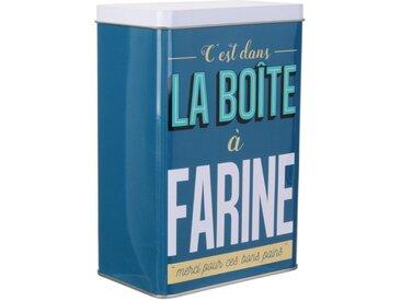 """Boîte de Conservation """"Ma Boîte à Farine"""" 18cm Bleu - Paris Prix"""