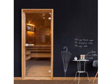 """Papier Peint pour Porte """"Sauna"""" 210x90cm - Paris Prix"""