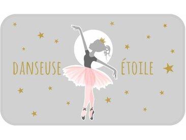 """Tapis Enfant Déco """"Danseuse Étoile"""" 45x75cm Gris - Paris Prix"""