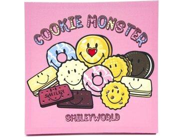 """Toile Imprimée """"Cookie Monster"""" 30x30cm Rose - Paris Prix"""