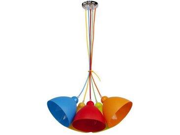 "Lampe Suspension Enfant ""Loon"" 92cm Multicolore - Paris Prix"