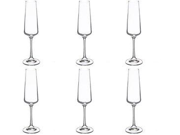 """Lot de 6 Flûtes à Champagne """"Selenga"""" Transparent - Paris Prix"""