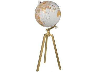 """Globe sur Pied en Marbre """"Mappemonde"""" 103cm Or - Paris Prix"""