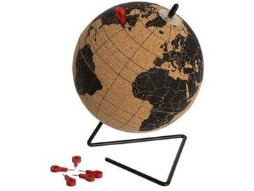 "Globe Terrestre en Liège ""CorkWorld"" 19cm Noir - Paris Prix"