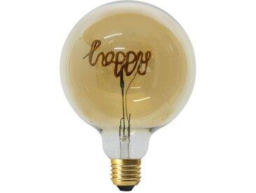 """Ampoule G125 Filaments LED """"Happy"""" 4W Ambre - Paris Prix"""