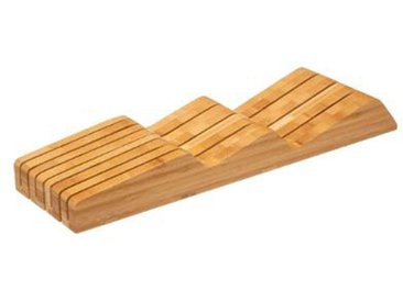 """Range-Couteaux Design """"Bambou"""" 40cm Naturel - Paris Prix"""