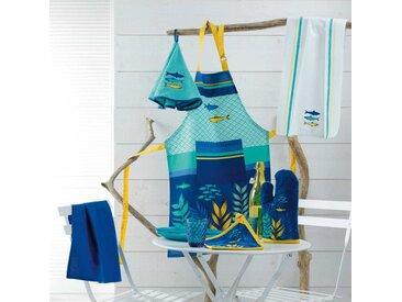 """Gant & Manique Coton """"Blue Lagoon"""" 28cm Bleu - Paris Prix"""