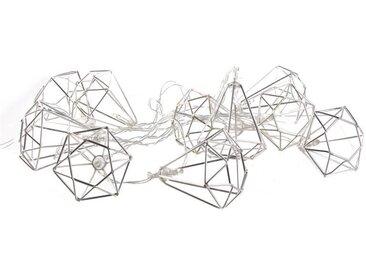 "Guirlande Lumineuse Led ""10 Diamants "" 175cm Argent - Paris Prix"