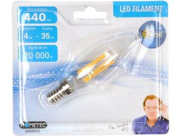 """Ampoule LED Filament """"Flamme 4W"""" 10cm Orange - Paris Prix"""