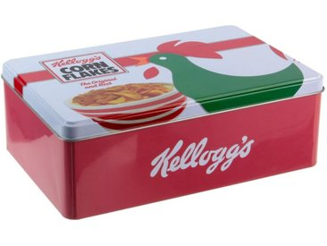 """Boîte à Sucre Métal """"Kellogg's Corn Flakes"""" 20cm Rouge - Paris Prix"""