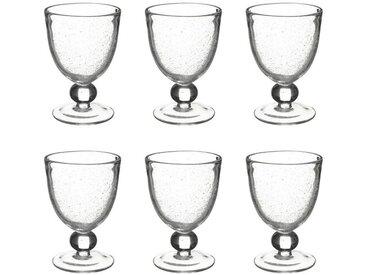 """Lot de 6 Verres à Vin Design """"Cluster"""" 32cl Transparent - Paris Prix"""